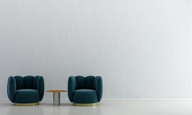 Sala de estar mínima e design de interiores de fundo de textura de parede branca