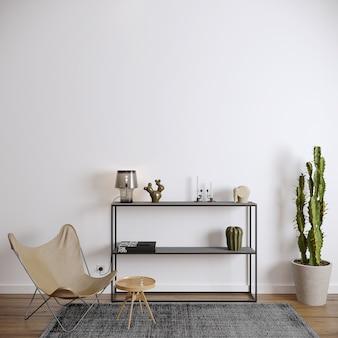 Sala de estar moderna com cadeira