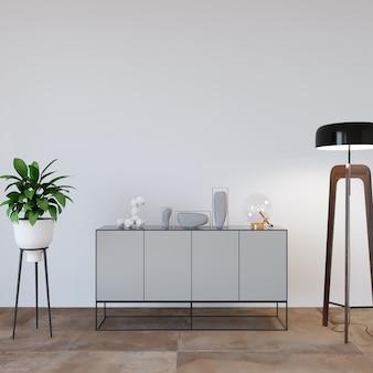 Sala de estar moderna com cômoda