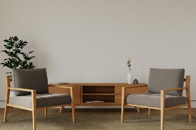 Sala de estar moderna com poltrona