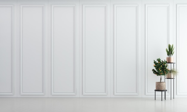 Sala de estar moderna e aconchegante e textura de parede com padrão branco design de interiores