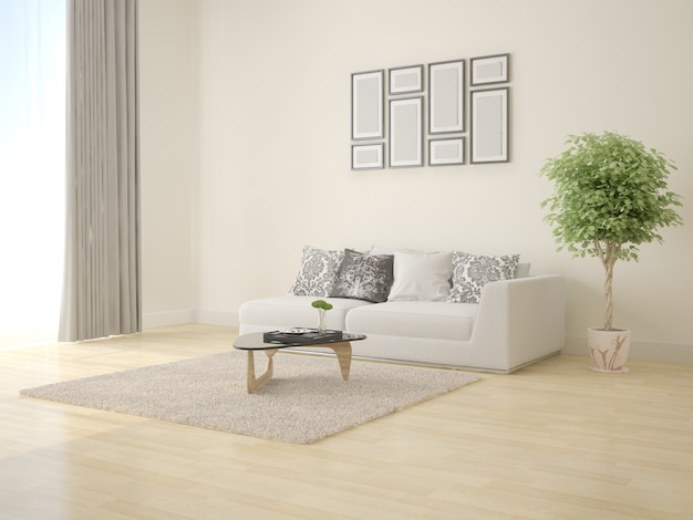 Sala de estar moderna e elegante com cama compacta
