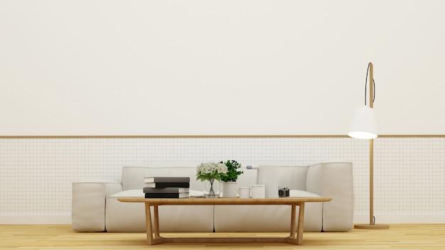 Sala de estar ou café - renderização em 3d