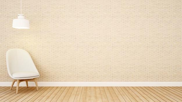 Sala de estar tom marrom no apartamento
