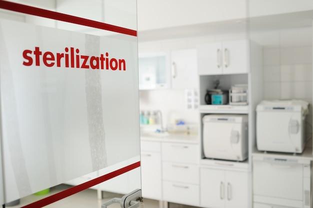 Sala de esterilização na clínica