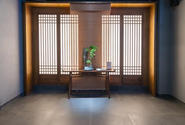 Sala de estudos em estilo chinês clássico
