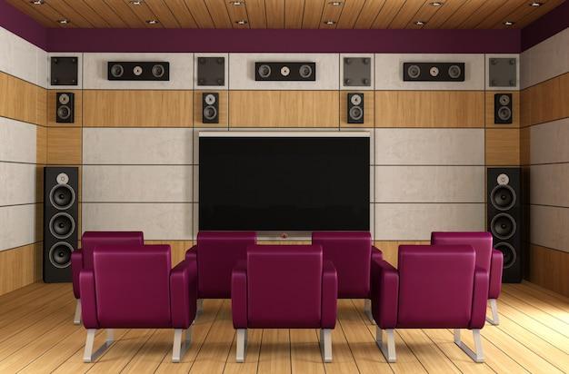 Sala de home theater de luxo
