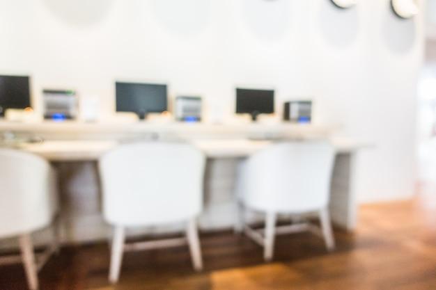 Sala de informática turva