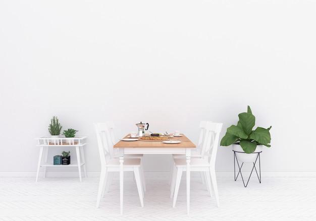 Sala de jantar escandinava - fundo de obras de arte