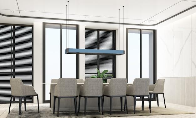 Sala de jantar estilo luxuoso moderno