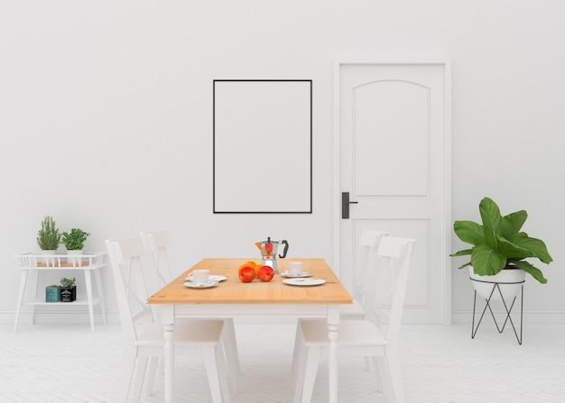 Sala de jantar - maquete de quadro preto