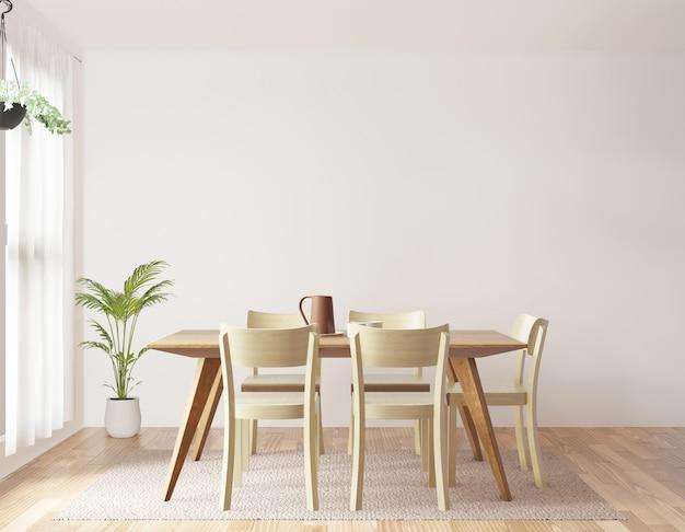 Sala de jantar renderização em 3d