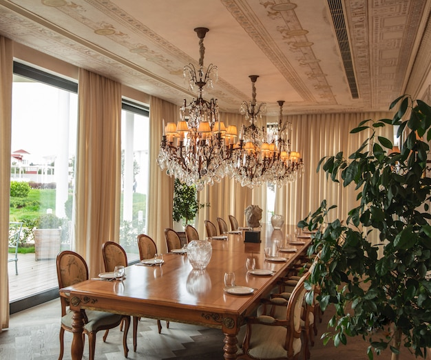 Sala de jantar tons de cor bege design de interiores