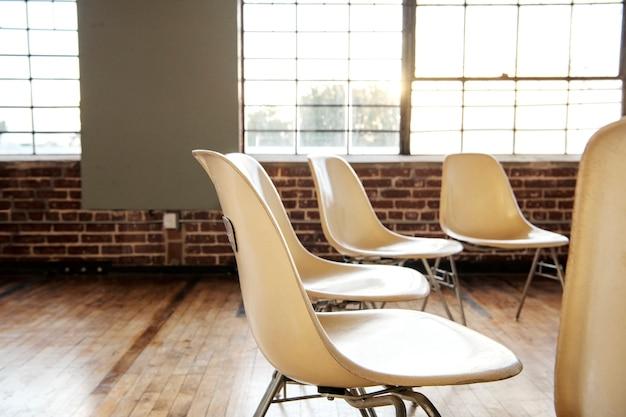 Sala de reunião durante um intervalo