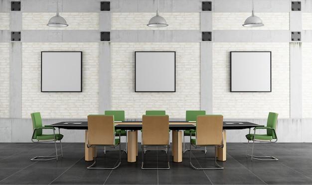 Sala de reuniões em um loft