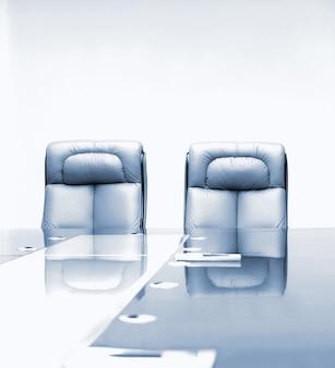 Sala de reuniões no prédio de escritórios de negócios
