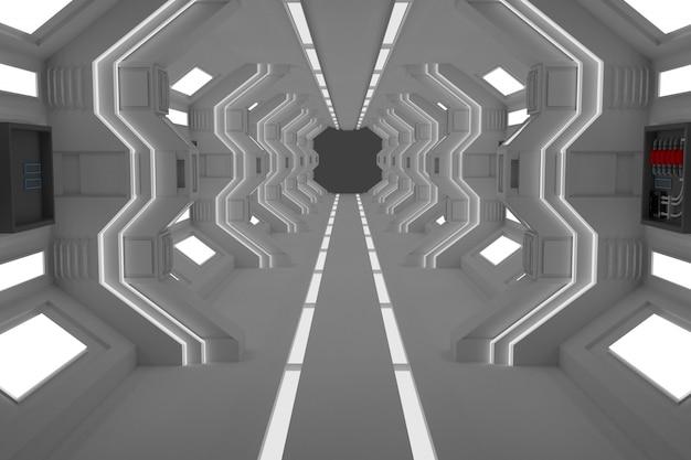 Sala de tunel 3d moderna