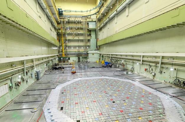 Sala do reator de um reator nuclear. usina nuclear.