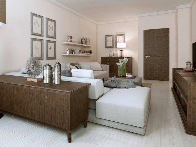 Sala em estilo contemporâneo.
