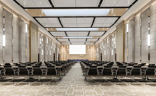 Sala executiva do seminário no hotel