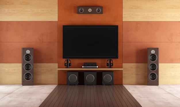 Sala moderna de home theater