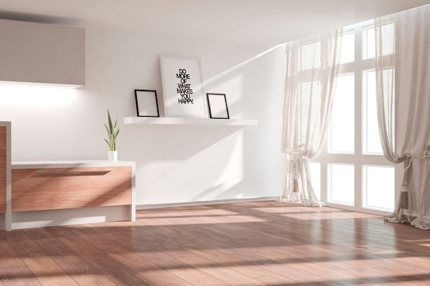 Sala moderna e luminosa