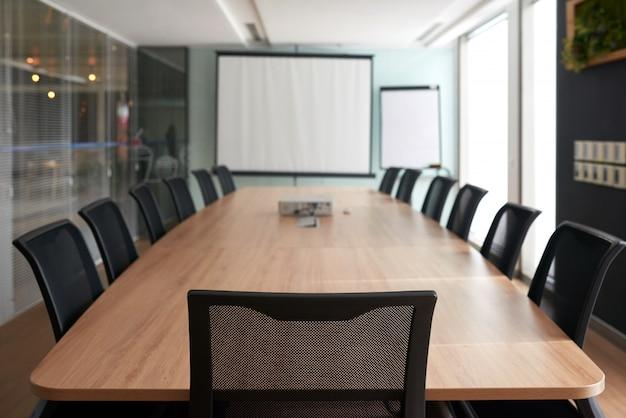 Sala para reunião de negócios