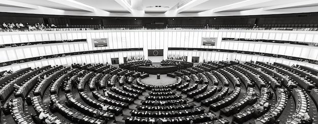 Sala plenária do parlamento europeu em estrasburgo