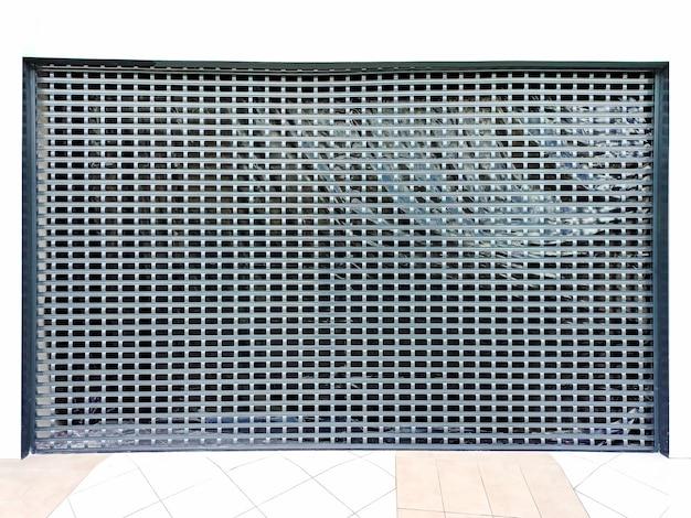 Sala ralada. portões de elevação. textura da grade.