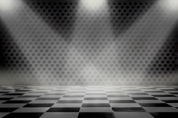 Sala vazia com luz do ponto