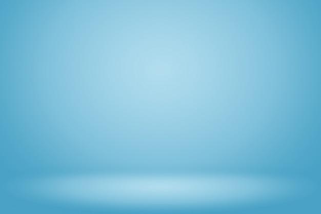 Sala vazia de fundo abstrato gradiente azul com espaço para o seu texto e imagens