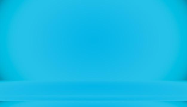 Sala vazia de fundo abstrato gradiente azul com espaço para seu texto e imagem