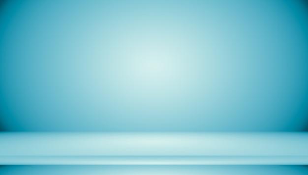 Sala vazia de fundo abstrato gradiente azul com espaço para seu texto e imagem Foto gratuita