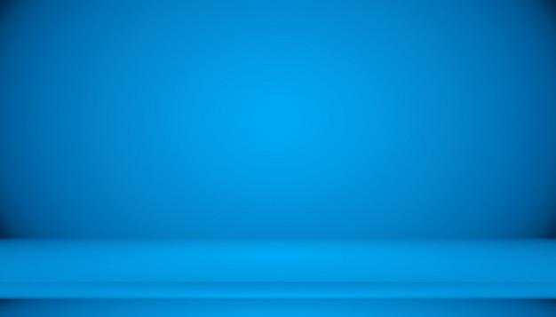 Sala vazia de fundo abstrato gradiente azul com espaço
