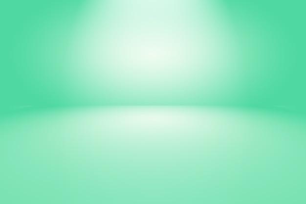Sala vazia de fundo abstrato gradiente verde com espaço para seu texto e imagens