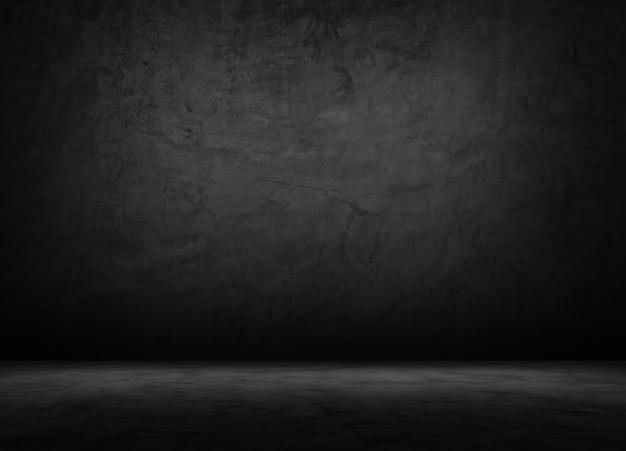 Sala vazia de tijolos pretos