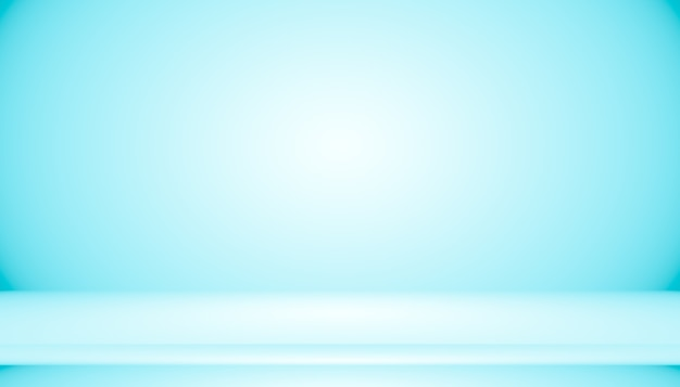 Sala vazia do fundo abstrato gradiente azul com espaço para o seu texto e imagens.