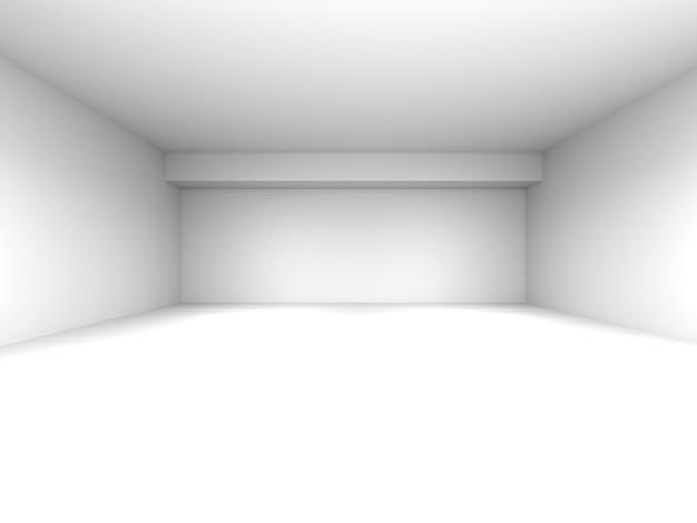 Sala vazia, renderização em 3d