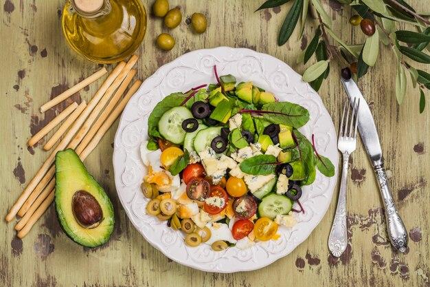 Salada caseira deliciosa