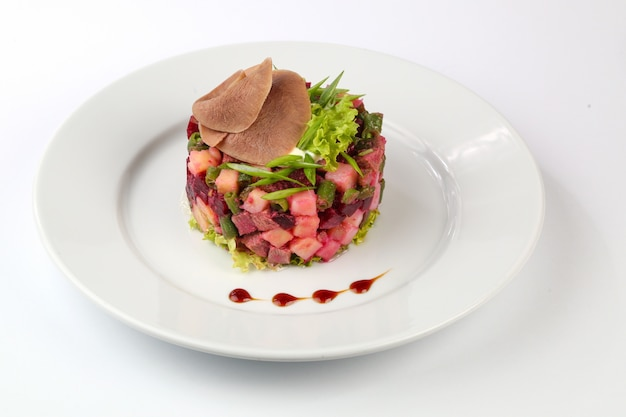 Salada com muhrooms
