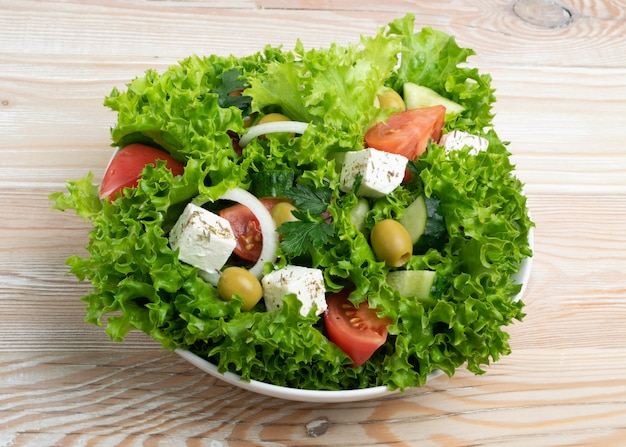 Salada de aldeia verde