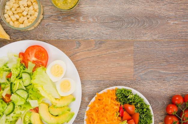 Salada de alface deliciosa e saudável