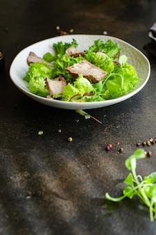 Salada de carne fatia de vegetais suculenta carne de vitela