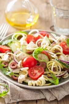 Salada de courgette em espiral