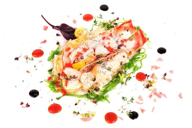 Salada de lagosta em estilo japonês