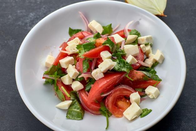 Salada de legumes com queijo
