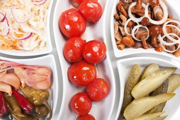 Salada de legumes em conserva