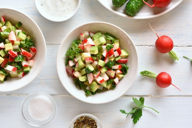 Salada de legumes saudável