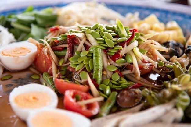 Salada de mamão.