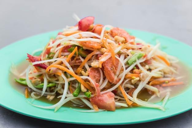 Salada de papaia picante